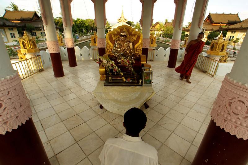 University for Monks - Myanmar | Burma - Mandalay view (Royal Palace)