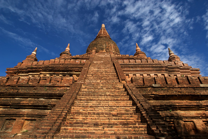 BAGAN. STAIRS UP ONE OF THE HIGHEST TEMPLES OF BAGAN.