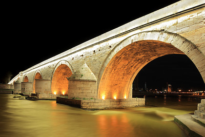 Stone bridge in Skopje, Macedonia