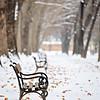 Winter scene from Skopje, Macedonia