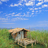 Fishing hut in Dojran, Macedonia