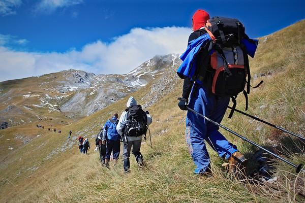 Traditional independece day hike to Korab mountain, Macedonia