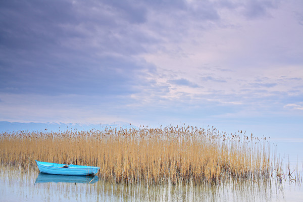 Boat at Ohrid lake, Macedonia