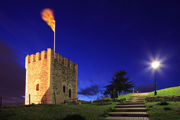 Watchtower on Kale fortress in Skopje, Macedonia