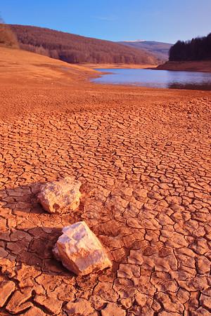 Cracked earth landscape from Mavrovo region, Macedonia