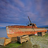 Sunk ship in Prespa region, Macedonia