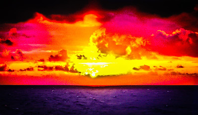 Sunset Over the Carribean 1