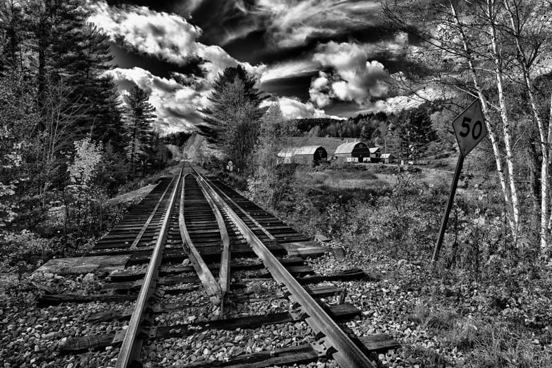 Playing on the Train Tracks - Northfield, VT