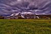 Cloudy barn - Stowe, Vt