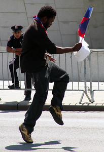 Dancer at west indian day parade