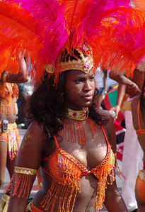 girl at west indian day parade