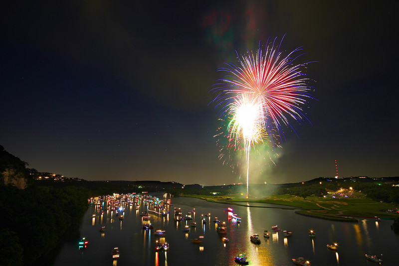 Fireworks over Lake Austin (2010) - Austin, Texas