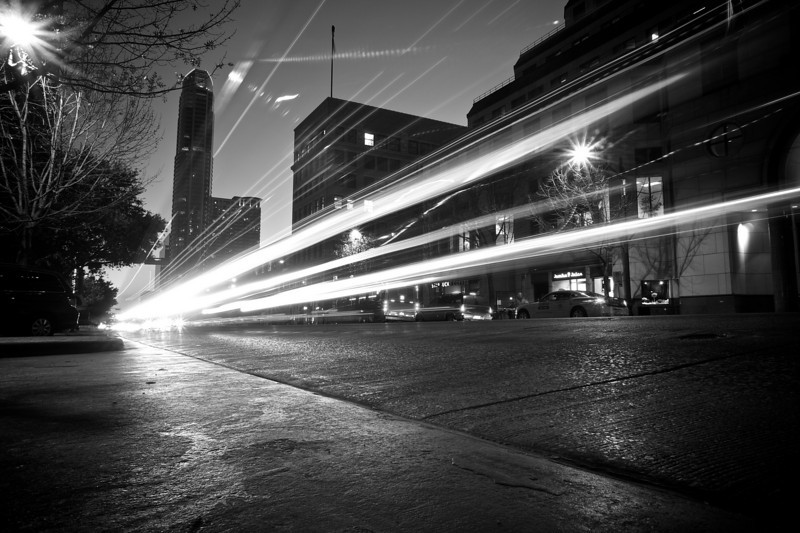 Congress Avenue Light Streaks - Austin, Texas