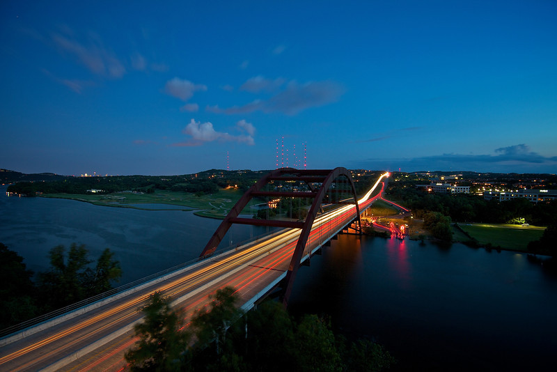 360 Bridge Light Trails, Easterly View - Austin, Texas