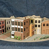 Rear view of Main Street diorama with back alley way and park.