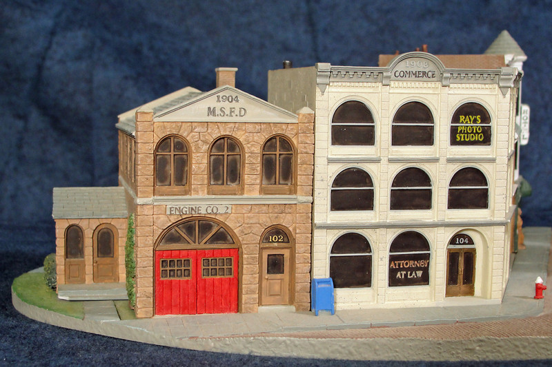 Main Street Fire Department and 1908 Commerce Building.