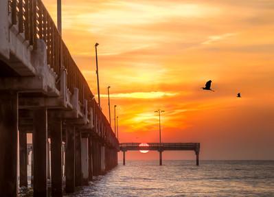 split sunrise