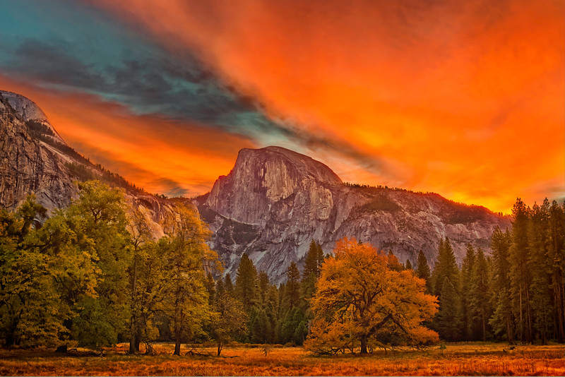 Yosemite Valley Dawn over Half Dome