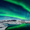 Aurora Oval over Jokulsarlon - 130320_Iceland_6016