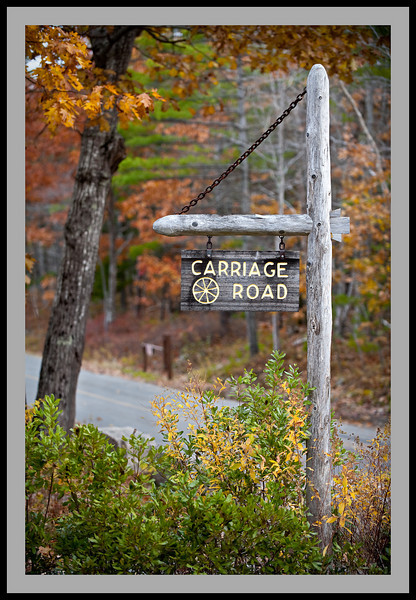 Carriage Road Sign -5519