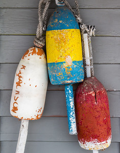 Kennebunk: Lobster Trap Buoys