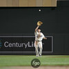 Minnesota Twins right fielder Jason Repko (18) fields a fly ball in the baseball game between the Chicago White Sox versus Minnesota Twins at Target Field in Minneapolis, MN. The Twins won the game 5-4.