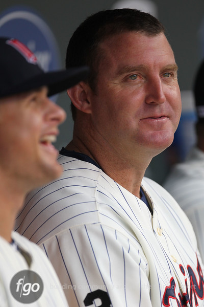 Minnesota Twins designated hitter Jim Thome sits out the game between the Chicago White Sox and the Minnesota Twins. He sits with just two home runs short of reaching the 700 home run mark. The White Sox won the game 5-3.