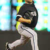 Chicago White Sox starting pitcher Mark Buehrle (56) went eight innings and scored the win in the game against the Minnesota Twins. Buehrle registered his 73rd game without a walk and extended his team record streak of allowing three runs or less, now in 17 straight starts. The White Sox won the game 5-3.