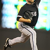 Chicago White Sox pitcher Mark Buehrle (56) went eight innings for the win against the Minnesota Twins at Target Field. The White Sox won the game 5-3.