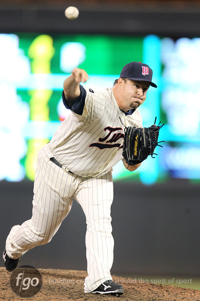 Minnesota Twin right handed reliever Matt Capps (55) came in to finish the game for the Minnesota Twins against the Chicago White Sox. The White Sox won the game 5-3.