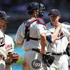 Minnesota Twins starting pitcher Scott Baker (30) was pulled out of the game with one out in the 8th inning after striking out 9 batters in his win at the Los Angeles Dodgers versus Minnesota Twins baseball game at Target Field in Minneapolis, MN. The Twins won 1-0.