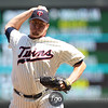Minnesota Twins closing pitcher Matt Capps (43) entered the game in the 9th and earned his 13th save of the season in the baseball game between the Los Angeles Dodgers versus Minnesota Twins at Target Field in Minneapolis, MN. The Twins won 1-0.
