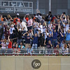 Minnesota Twins fans eye a home run by designated hitter Jim Thome  sail over their heads in the fourth inning at the Seattle Mariners versus Minnesota Twins baseball game at Target Field in Minneapolis, MN. This was one of two home runs for Thome in the game, taped at 465 feet and tied the game 4-4 in the fourth inning. The Mariners went on to win 8-7 in 10 innings.