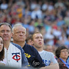 Minnesota Twins fans observed a pre-game tribute to former Minnesota Twins Harmon Killebrew at the Seattle Mariners versus Minnesota Twins baseball game at Target Field in Minneapolis, MN. The Mariners won 8-7 in 10 innings.