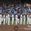 Fans and players stand in recognition to honor the passing of Twins veteran Harmon Killebrew prior to the start of the game between the Minnesota Twins and the Seattle Mariners at Target Field in Minneapolis.