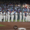 Minnesota Twins lined up to honor former Minnesota Twins Harmon Killebrew in a pre-game tribute at the Seattle Mariners versus Minnesota Twins baseball game at Target Field in Minneapolis, MN. The Mariners won 8-7 in 10 innings.