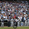 Seattle Mariners joined Minnesota Twins fans in a pre-game tribute to former Minnesota Twins Harmon Killebrew at the Seattle Mariners versus Minnesota Twins baseball game at Target Field in Minneapolis, MN. The Mariners won 8-7 in 10 innings.