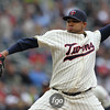 Minnesota Twins pitcher Jose Mijares (5) came in to relief in the top of the seventh inning at the Seattle Mariners versus Minnesota Twins baseball game at Target Field in Minneapolis, MN. The game was tied at two after seven innings. The Minnesota Twins won the game 3-2.