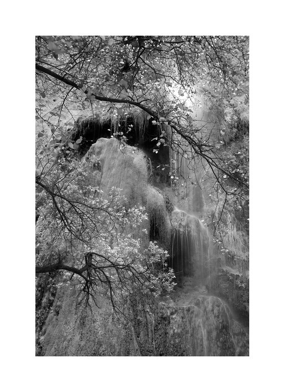 Temple Veil - Escondido Falls in August. What is usually a torrent, slowly creeps to just a slow dripping in the dry summer months, but here there is always water.