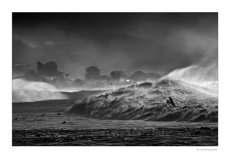 Tombstone - Malibu Surfrider Beach, Hurricane Marie 2014 - I