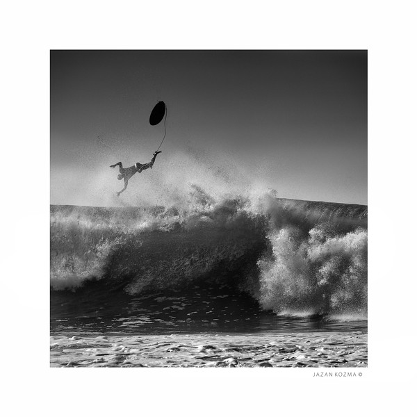 Wipe Out! - Malibu Surfrider Beach, Hurricane Marie 2014