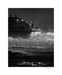 Malibu Surfrider Beach, Hurricane Marie 2014 - XI