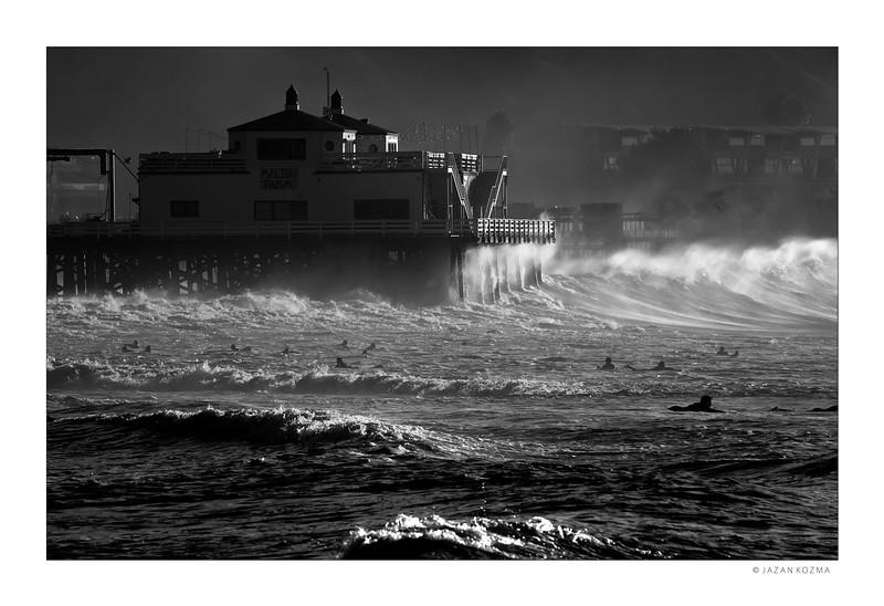 Malibu Surfrider Beach, Hurricane Marie 2014 - V