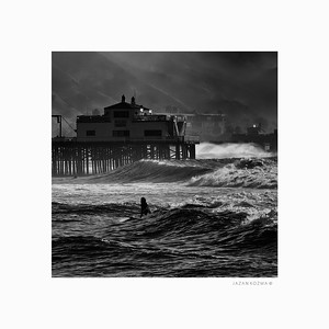 Malibu Surfrider Beach; Hurricane Marie; August 26th 2014 Number 14 of Series - Limited Edition Print