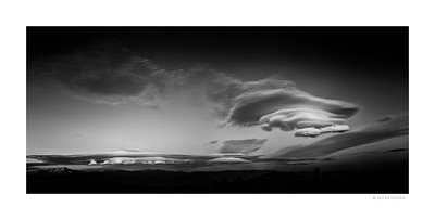 Lenticular Clouds over Owens Valley II - Eastern Sierra