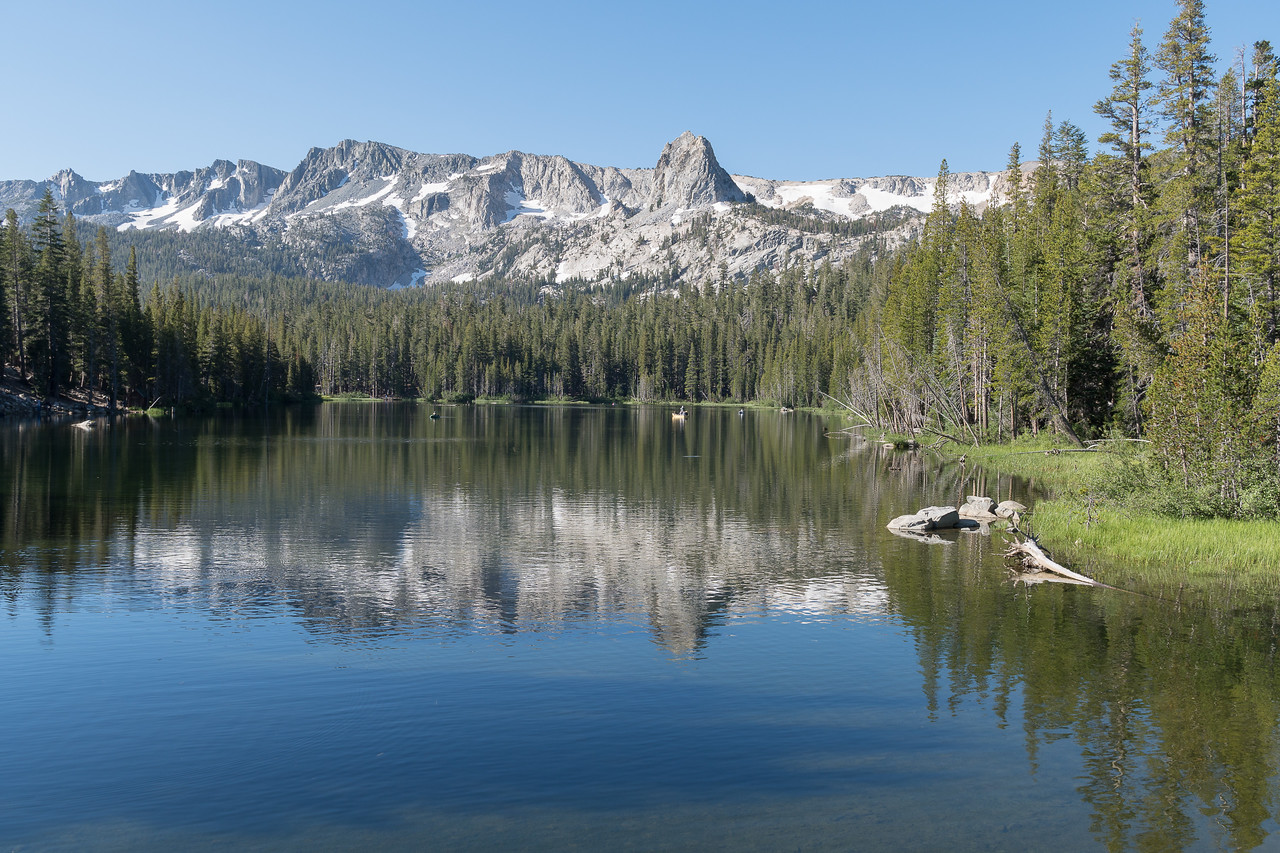Lake Mamie, one of many lakes in the Mammoth Lakes area