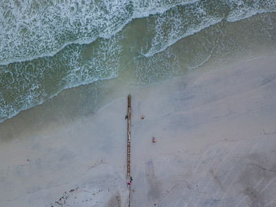 Overhead Shot of Coquina Beach