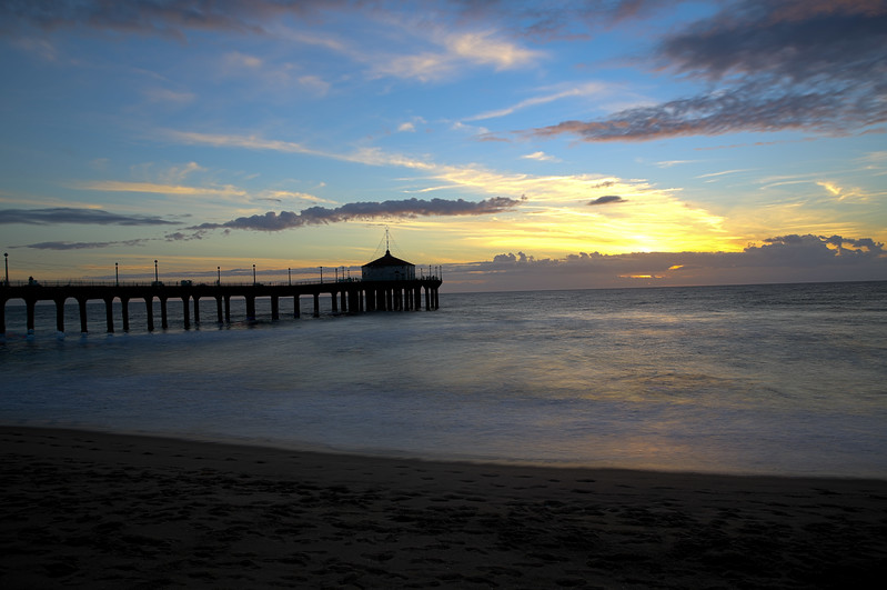 Manhattan Beach at sunset