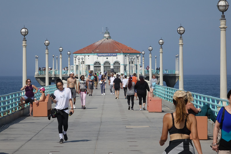 Walking the Manhattan Beach Pier on a Sunday morning