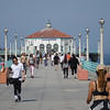 Walking the Manhattan Beach Pier on a Sunday morning